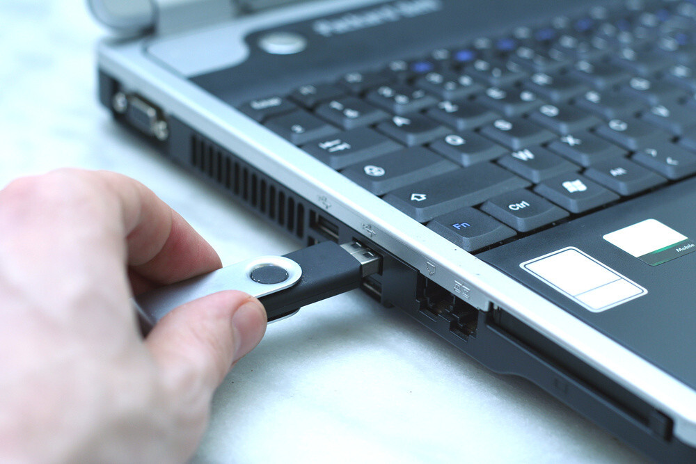 change logitech USB receiver port