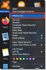 delete avast from applications folder